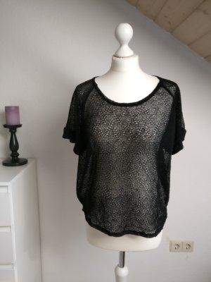 transparentes modisches Shirt oversize vero Moda gehäkelt Größe S