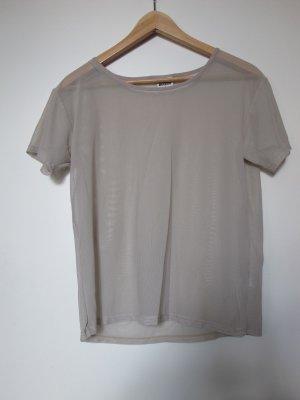 transparentes nudefarbenes T-Shirt von Weekday