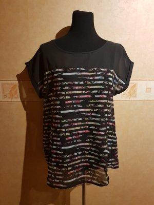 Transparentes oversize Shirt - gestreift - Gr. 40 /42 - TOP