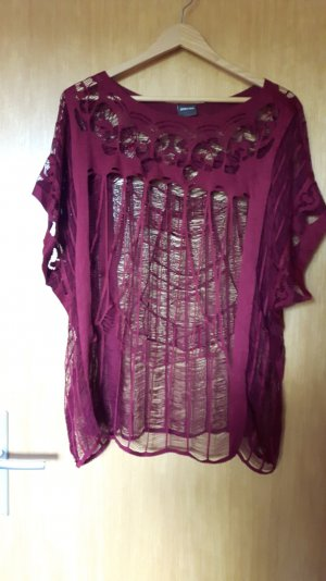 transparentes shirt in bordeaux