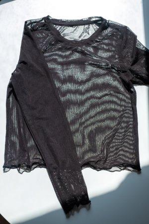 Monki Netshirt zwart Polyester