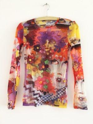 Galliano Top veelkleurig Polyester
