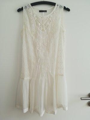 Atmosphere Vestido de encaje blanco puro
