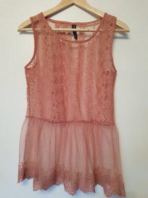 A-lijn top stoffig roze