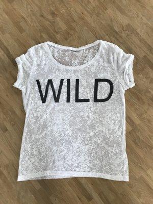 Camicia fantasia bianco-nero