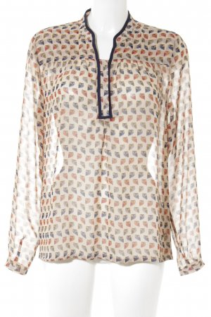 Transparante blouse abstract patroon casual uitstraling