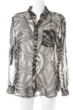 Transparante blouse dierenprint elegant