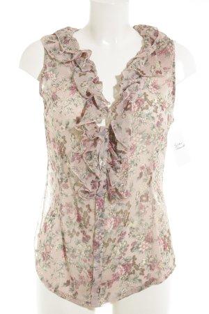 Transparenz-Bluse Blumenmuster Romantik-Look
