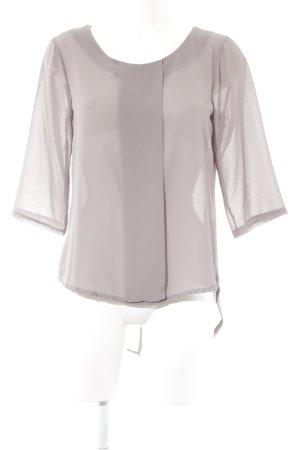 Transparante blouse grijs-bruin casual uitstraling