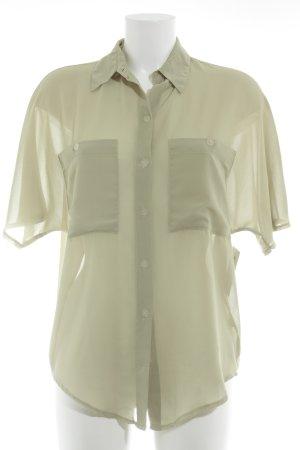 Transparante blouse lichtgroen casual uitstraling