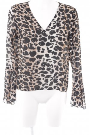 Transparenz-Bluse Leomuster Casual-Look