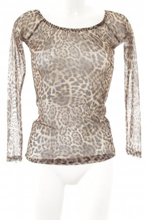 Transparenz-Bluse Leomuster Party-Look