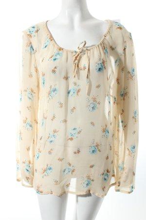 Transparenz-Bluse mehrfarbig Romantik-Look