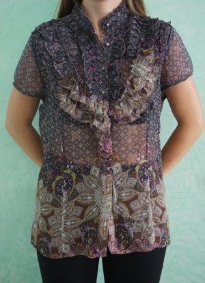 Transparenz-Bluse mit Rüschen von Comma