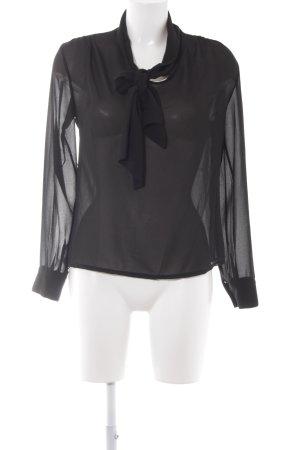 Transparenz-Bluse schwarz Elegant