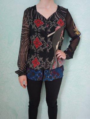 Desigual Transparante blouse veelkleurig Polyester