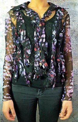 transpatente Damenbluse Versace Jeans Couture Gr S