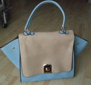 Carry Bag light brown-light blue polyurethane