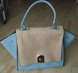 Carry Bag light brown-light blue polyurethane
