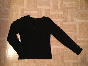 TRAPEZE Shirt Pulli schick Abendmode 36-38 schwarz Neu