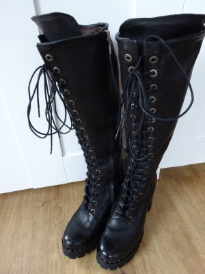 Air Step Lace-up Boots black