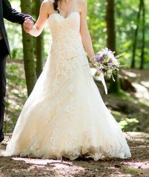 Wedding Dress white-gold-colored