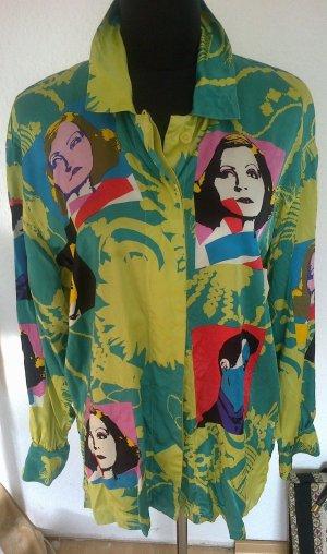 Traum Escada 70e Vintage Seidenbluse Bluse Andy Warhol Look (42,)38 40 Oversize