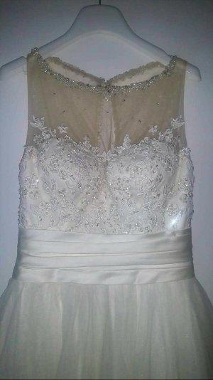 Sweetheart Vestido de novia crema-blanco puro