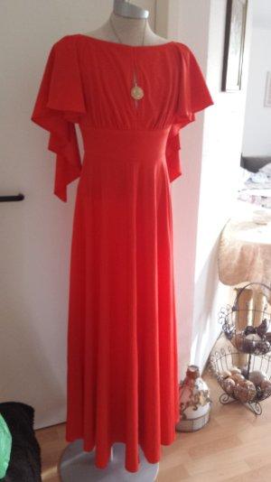 Traum Kleid Scarlett OHara Abendkleid Kleid Robe Vintage Hippie Festival Rot 34