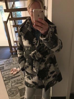 new collection Manteau en laine multicolore