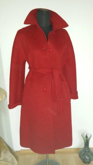 Traum Piacenza (Couture) Escada Wollmantel Mantel Rot Alpaca Camel Vintage 38 40