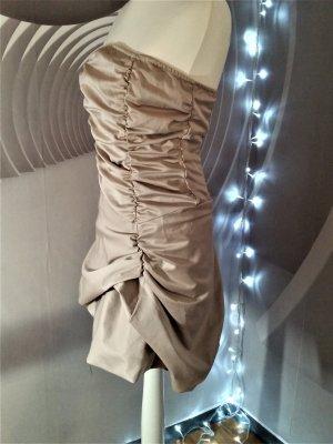 Traumhaft! Cocktail Kleid Nude Bandeau Gr M 38 Rinascimento