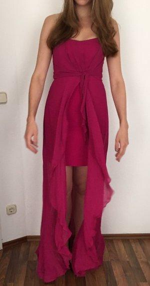 TRAUMHAFT: Nicole Miller Abendkleid in Fuchsia - 100% SEIDE