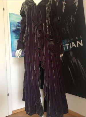 TRAUMHAFT * S'finks*- Samt Brokat Mantel Smaragd Grün Purple Luxus Unikat