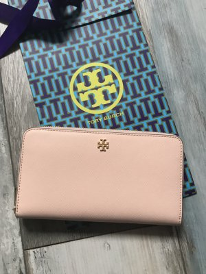 Tory Burch Portefeuille rose clair cuir