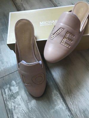 Traumhaft schöne Leder Sandalen von Michael Kors Love in Altrosa neu mit Karton