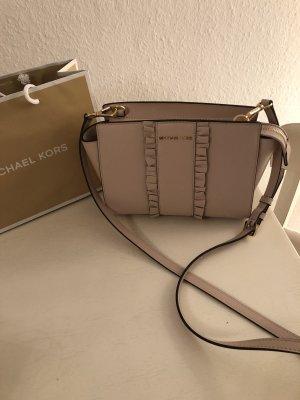 Traumhaft schöne Leder Tasche Selma von Michael Kors mit Rüschen Neu Mit Etikett 295€