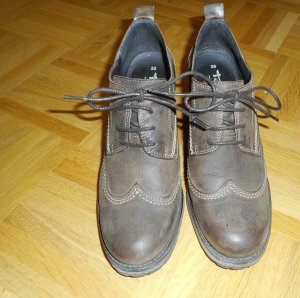 Tamaris Lace Shoes light brown leather
