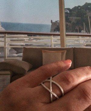 Traumhaft schöner Designer Crossover - Ring 925 Silber