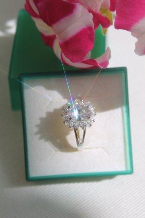 traumhaft schöner Ring aus Paris * Stein * Kristalle * gestempelt * NEU *