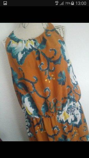 H&M Divided Maxi-jurk donker oranje