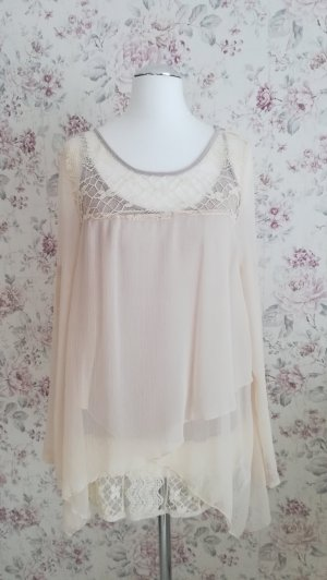 Aniston Lace Blouse cream-oatmeal