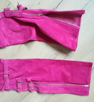 Apart Impressions Leather Trousers pink leather