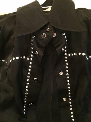 Amor & Psyche Silk Blouse black