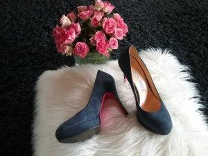 ❗❗Traumhafte High- Heels aus Leder in blau von LUCIANO  PADOVAN...Wie NEU❗❗