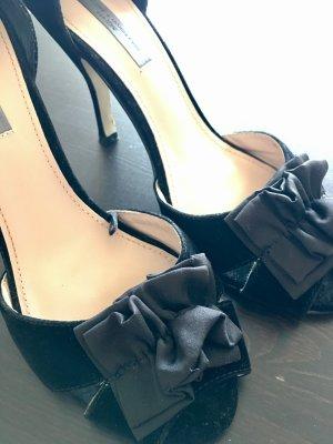 Traumhafte High Heels/Pumps, schwarz, Mango, Velour, 39 - wie neu