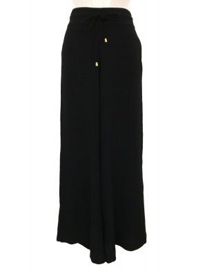 High Waist Trousers black-gold-colored