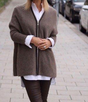 Rosa von Schmaus Wollen Jack grijs-bruin-donkerbruin Kasjmier