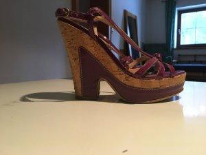 Sandalias de tacón lila
