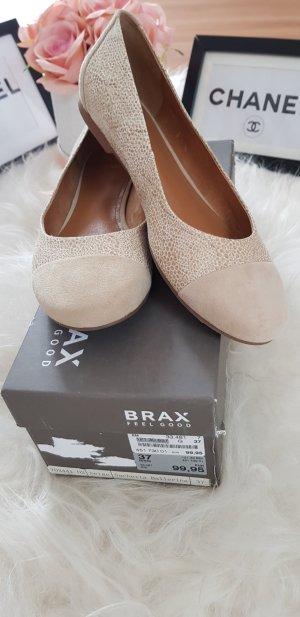 Brax Ballerine à bride arrière beige clair-chameau cuir